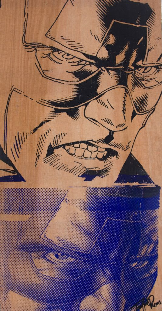 Captain America on ply byTrafford Parsons. http://traffordparsons.com/products-page/all/captain-america-on-ply/