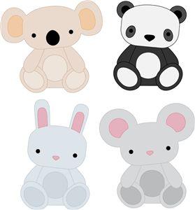 Silhouette Design Store - View Design #5339: animal set