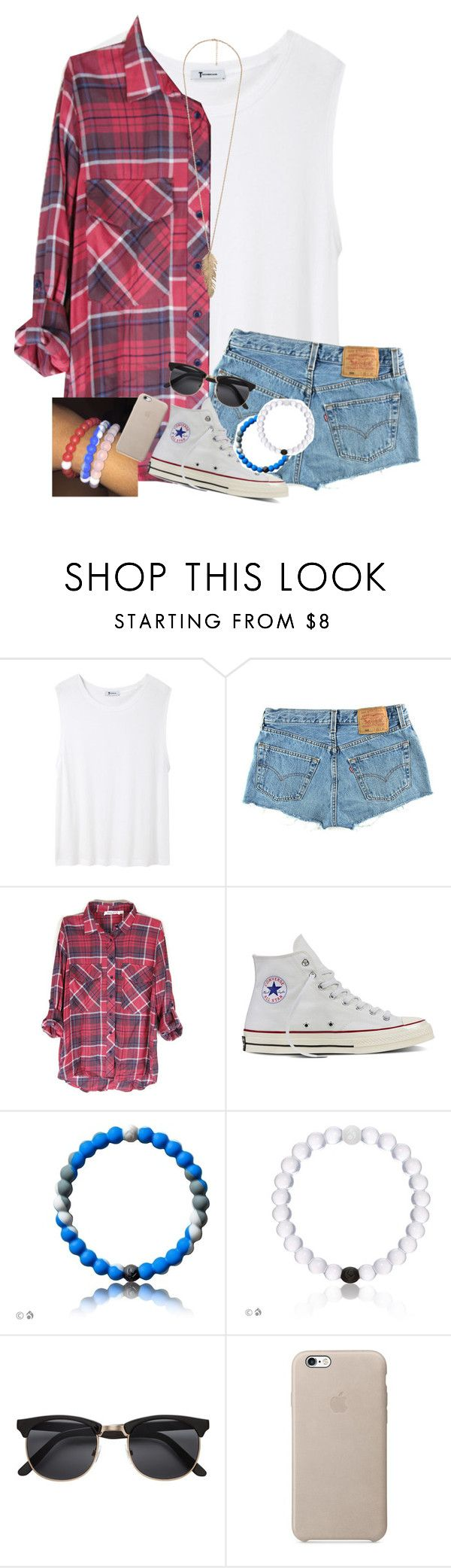 """""""Got a Shark Lokai"""" by daydreammmm ❤ liked on Polyvore featuring T By Alexander Wang, Levi's, Converse, H&M and Forever 21"""