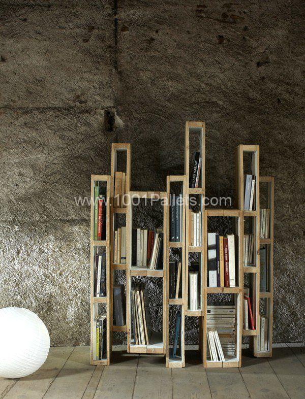 Design Bookshelf With Vertical Pallets Pallet Bookcases & Bookshelves