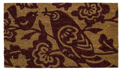 Limpiapiés Pajarito Café. Visítanos en tuakiti.com #limpiapies #alfombra #carpet #decoracion #homedecor #hogar #home #ave #pajaro #bird #tuakiti