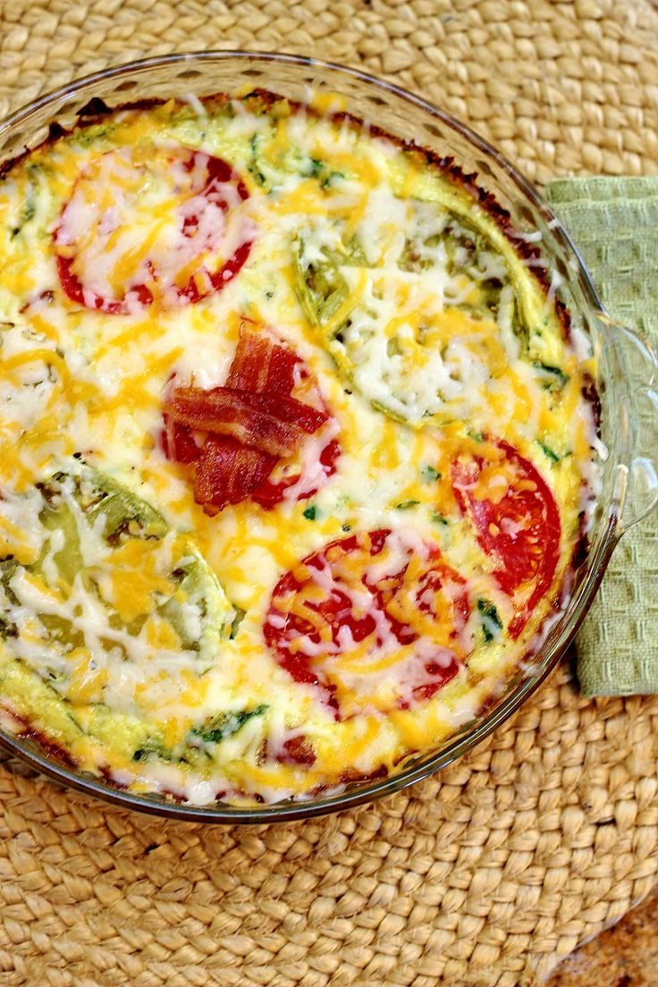 Bacon and Tomato Quiche on Zucchini Crust My guest post for: Living Low Carb One Day At A Time