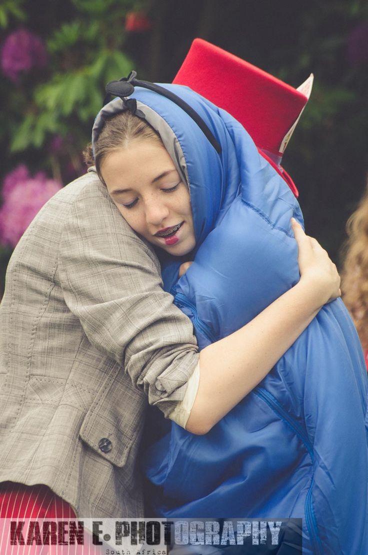 Hugging a catterpilla
