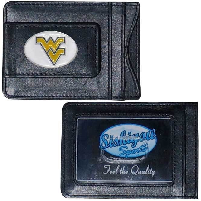 Siskiyou Collegiate West Virginia Mountaineers Leather Cash and Card Holder