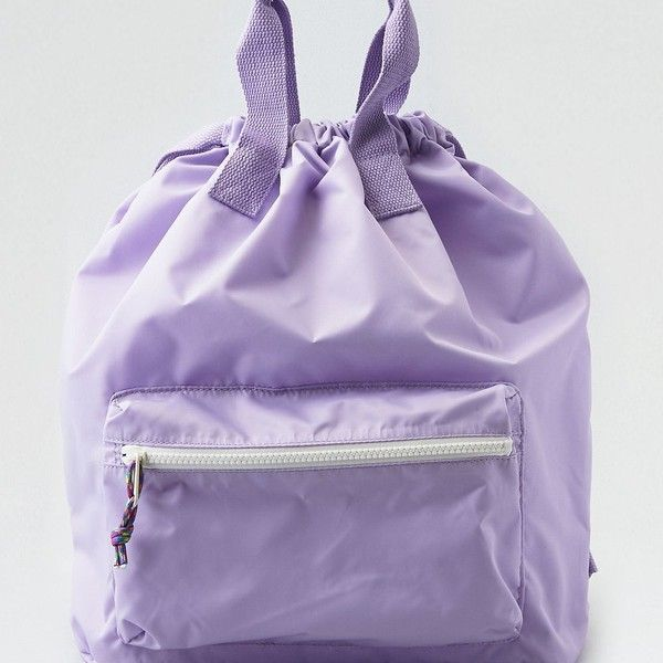 AE Nylon Convertible Backpack ($30) ❤ liked on Polyvore featuring bags, backpacks, purple, day pack backpack, tote handbags, backpack tote bag, purple tote bags and purple tote