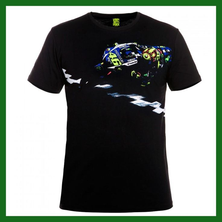 Valentino Rossi VR46 Life Style Moto GP Banking Vale Black T-shirt