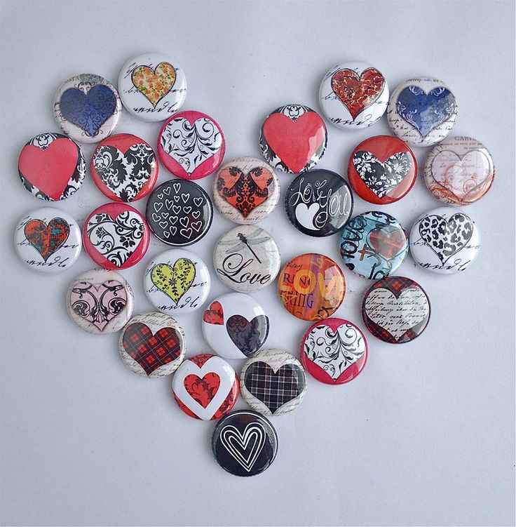 Our Heart Buttons