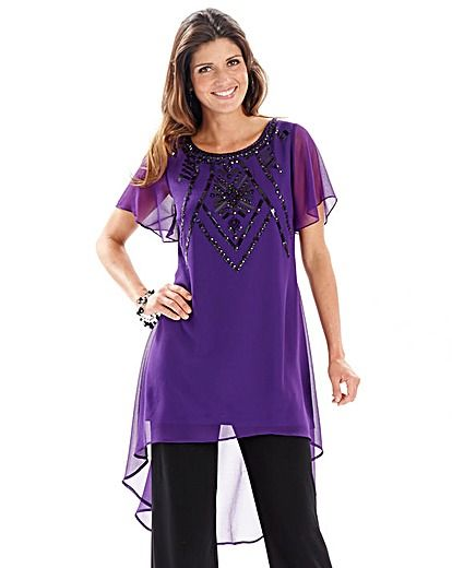 Joanna Hope Jet Jewel Trim Tunic | Oxendales