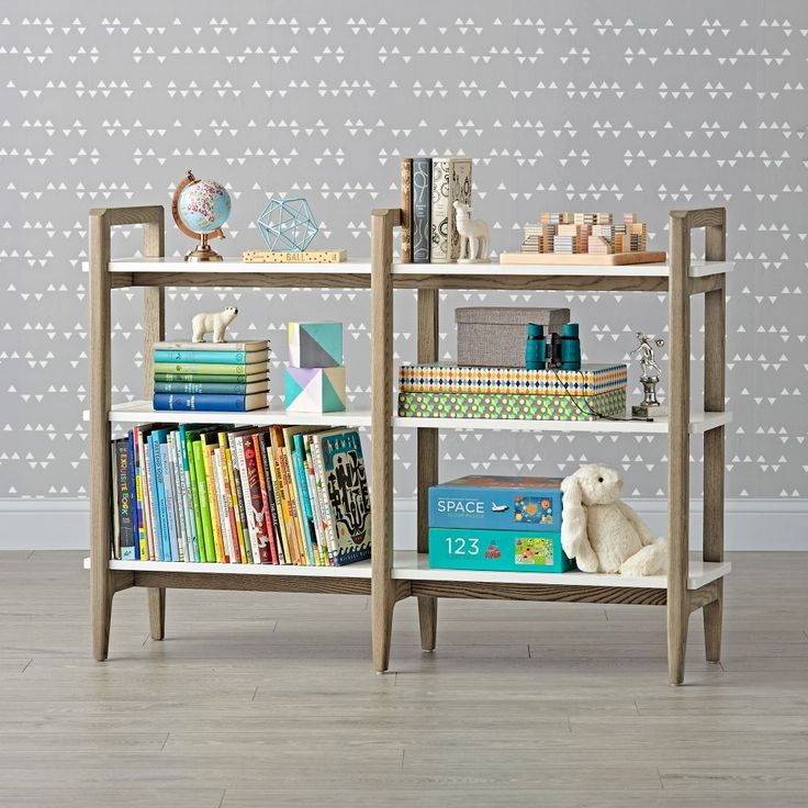 Shop Grey & White Open Shelf Bookcase.  Our Wrightwood Bookcase will make just the right statement in any room in your home.