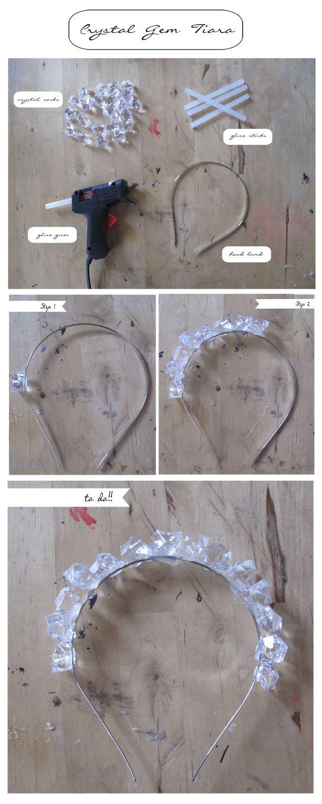 DIY CRYSTAL TIARA #diy #headband #crown