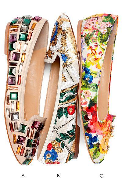 Dolce & Gabbana Ballet Flats 2014 ~ Colette Le Mason @}-,-;---