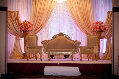 cream and pink wedding stage | Myra & Sami's Sweet Pakistani Wedding Reception {Virginia} - Gallery - TheBigFatIndianWedding.com