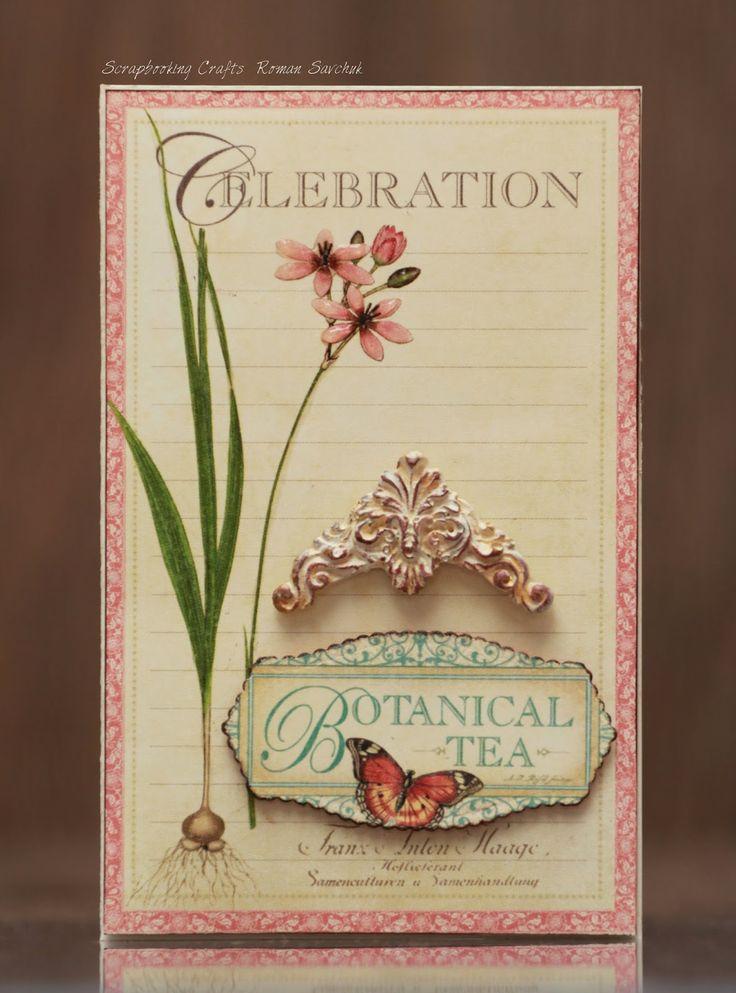 Scrapbooking Crafts: Spellbinders + Graphic45 #1   Botanical Tea #graphic45