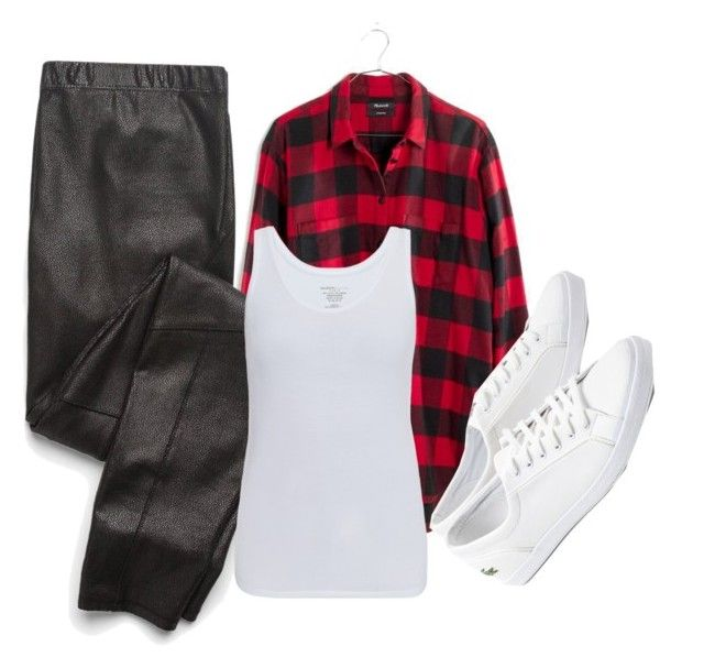 """""""Casual Day 🌞😎"""" by triceyfashion ❤ liked on Polyvore featuring Madewell, Splendid, Majestic and Lacoste"""