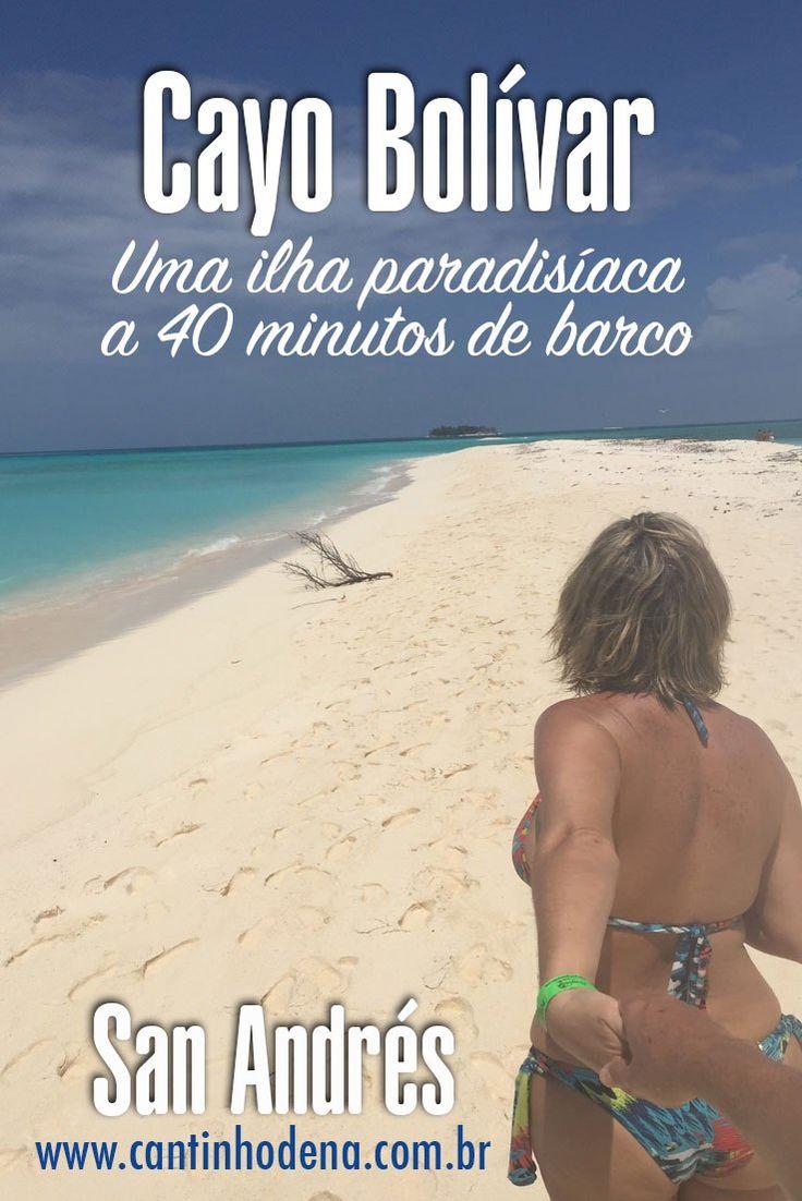 Como é o passeio a Cayo Bolívar partindo de San Andrés. A ilha deserta fica a 40 minutos de barco. #sanandres #caribe #colombia #cayobolivar #cantinhodena
