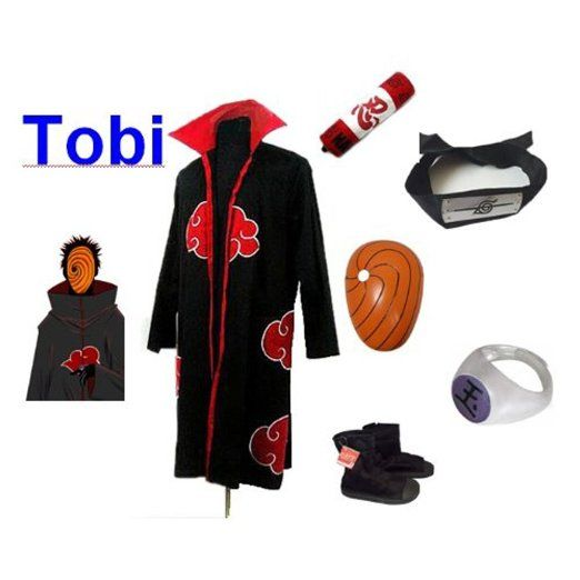 Amazon.com: Naruto Itachi Tobi cosplay costume and shoes set , size L: Clothing