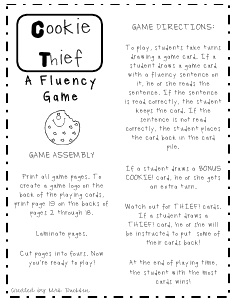 The First Grade Sweet Life: Very Merry Tuesday~ A Fluency Game Freebie