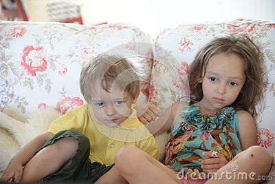 Children on the couch