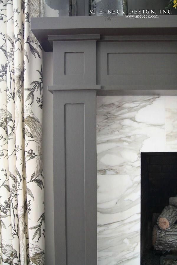 Gorgeous marble fireplace surround – M.E. Beck Des…