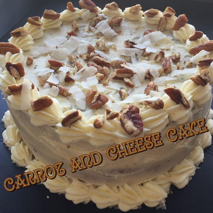 Carrot cake with cheese cake bottom