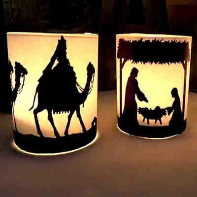 ¡Una idea que me encanta por increible fácil que es y lo bonito que queda! #belen #navidad #adornar #DIY