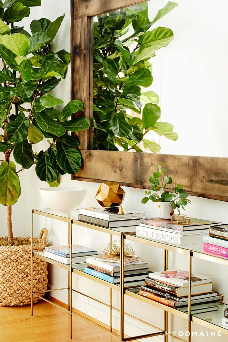 Gold Console Tables + Books
