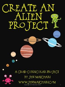 Bring writing into the science classroom and meet those Common Core standards!!  Create an Alien - A Space and Planet Project - a great culminating project for an outer space and planet unit. Encompasses science, language arts, art and a little bit of math. Students utilize research skills to create a passport of info on a planet. Then they must apply the knowledge and create an alien who could live on planet. End with a Welcome to Earth Celebration!!! The aliens turn out great! $4