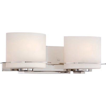 Nuvo Lighting 60/5102 Bathroom Fixtures Loren Indoor Lighting Vanity Light ;Polished Nickel, Silver