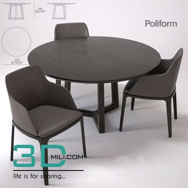 31 Table Chair 31 3d Models Free Download Table And Chairs