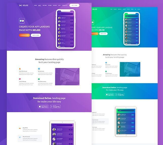 Free Modern App Landing Page Template Html Psd Titanui Free Dashboard Templates Business Card Template Psd Landing Page Design