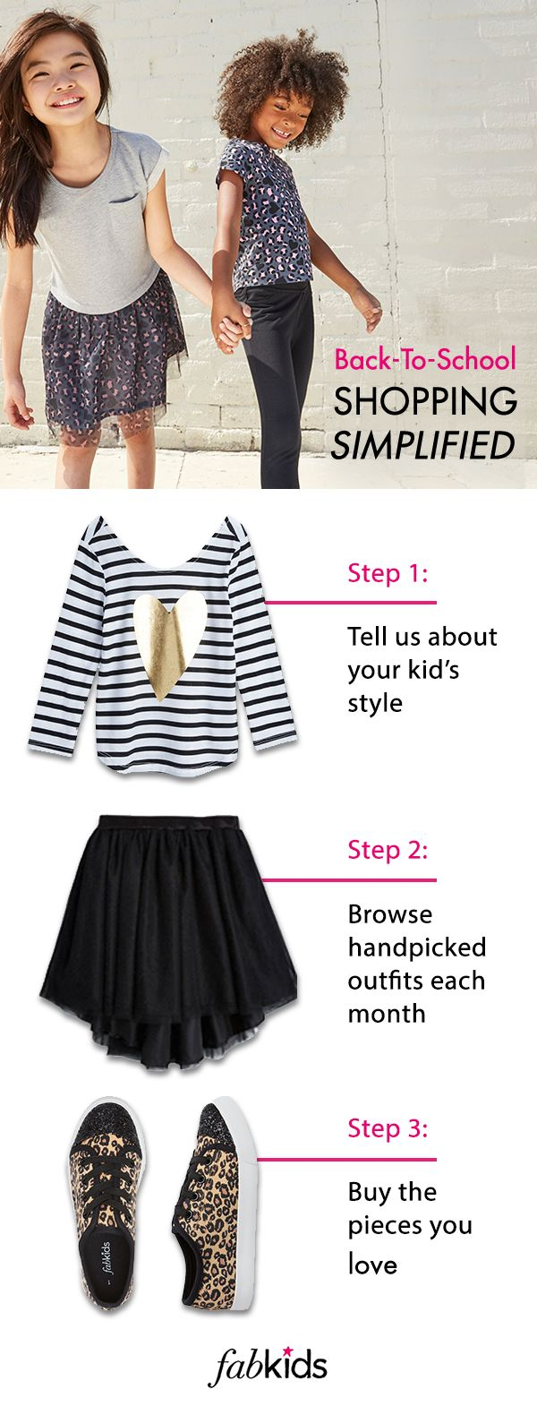 Back-to-school does not have to mean back-to-mall. At FabKids, we're making it…