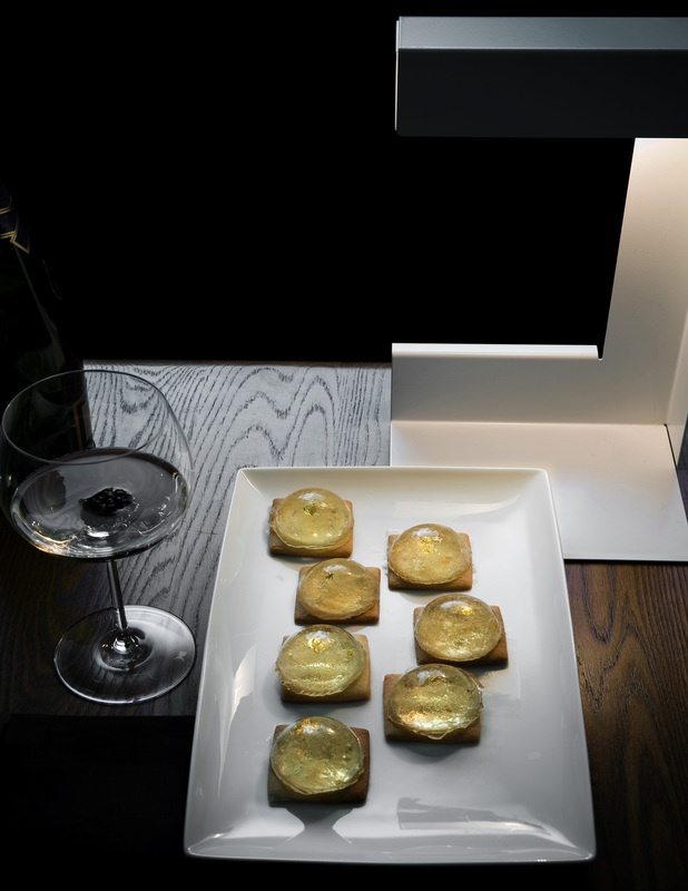 Tartine dolci alla gelatina di champagne