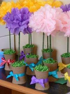 Paper flower topiaries mother day