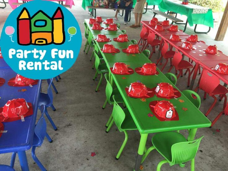 Party fun kiddie rental chairs and tables