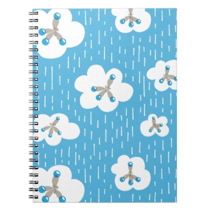 Clouds And Methane Molecules Blue Chemistry Geek Notebook - pattern sample design template diy cyo customize