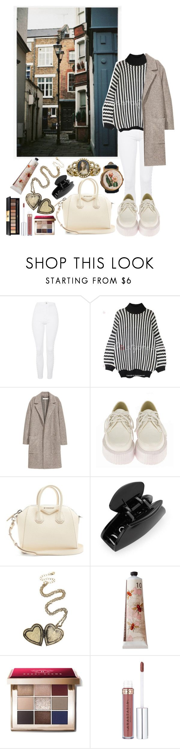 Untitled #441 by danielagreg on Polyvore featuring H&M, Topshop, Retrò, Givenchy, Hot Topic, Cara, Yves Saint Laurent, Bobbi Brown Cosmetics and TokyoMilk