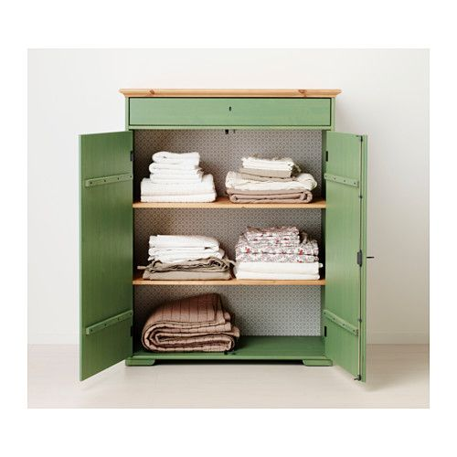 IKEA Fan Favorite: HURDAL linen cabinet. The solid pine shows off the attractive grains and beauty mark knots that give each unique piece its own naturally grown, individual personality.