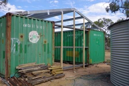 Steel And Timber Frame On Shipping Container Shed In 2019