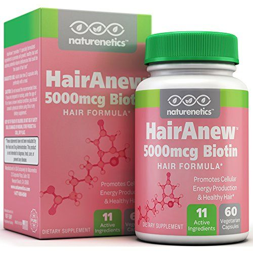 cool HairAnew (Unique Hair Growth Vitamins with Biotin) - Tested - For Hair, Skin & Nails - Women & Men - Addresses Vitamin Deficiencies That Could Be The Cause of Hair Loss / Lack of Regrowth * 60 VCaps
