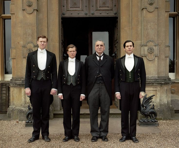 Matt Milne, Ed Speleers, Jim Carter, Rob James-Collier, Downton Abbey (2012)