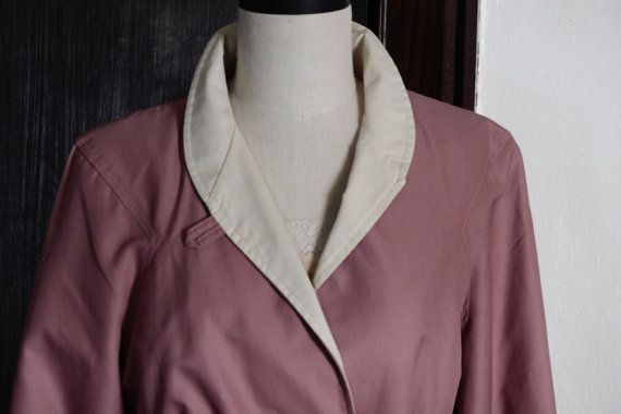 Pink Mid Century Woman's Coat by TuckedAwayAntiques on Etsy