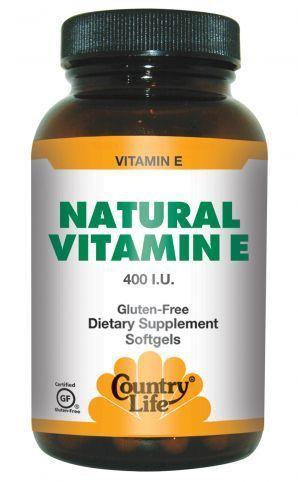 Vitamin E 400 IU Country Life 60 Softgel