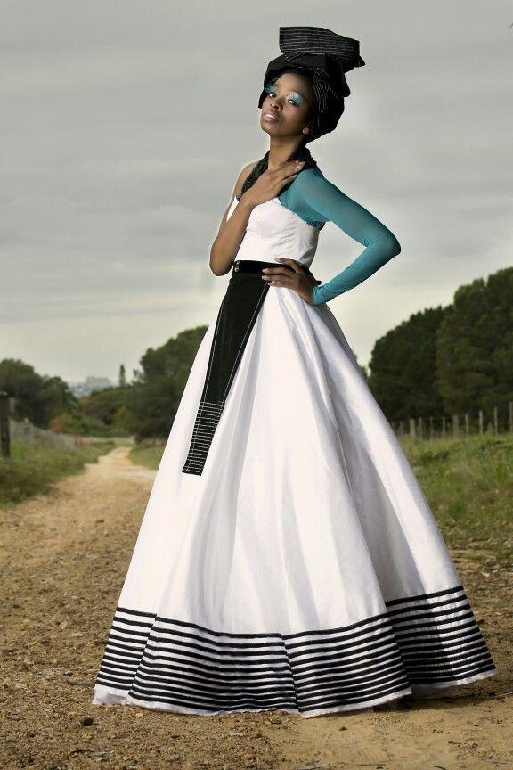 Tina Ngxokolo Dress | Photo by: Microsoft | Model: Zipho Rapiya