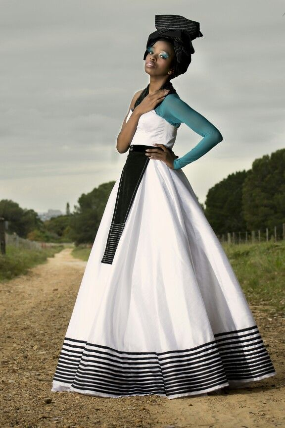 Tina Ngxokolo Dress | Photo by: Microsoft | Model: Zipho Rapiya