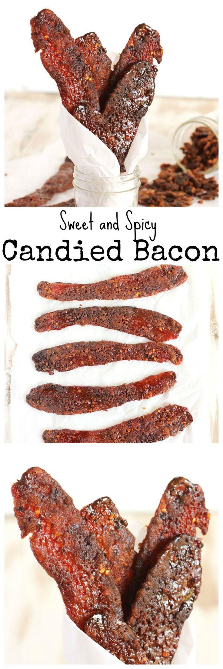 Sweet and Spicy Candied Bacon is a completely addicting snack. The perfect gift for any bacon lover. | @suburbansoapbox #smithfieldflavor