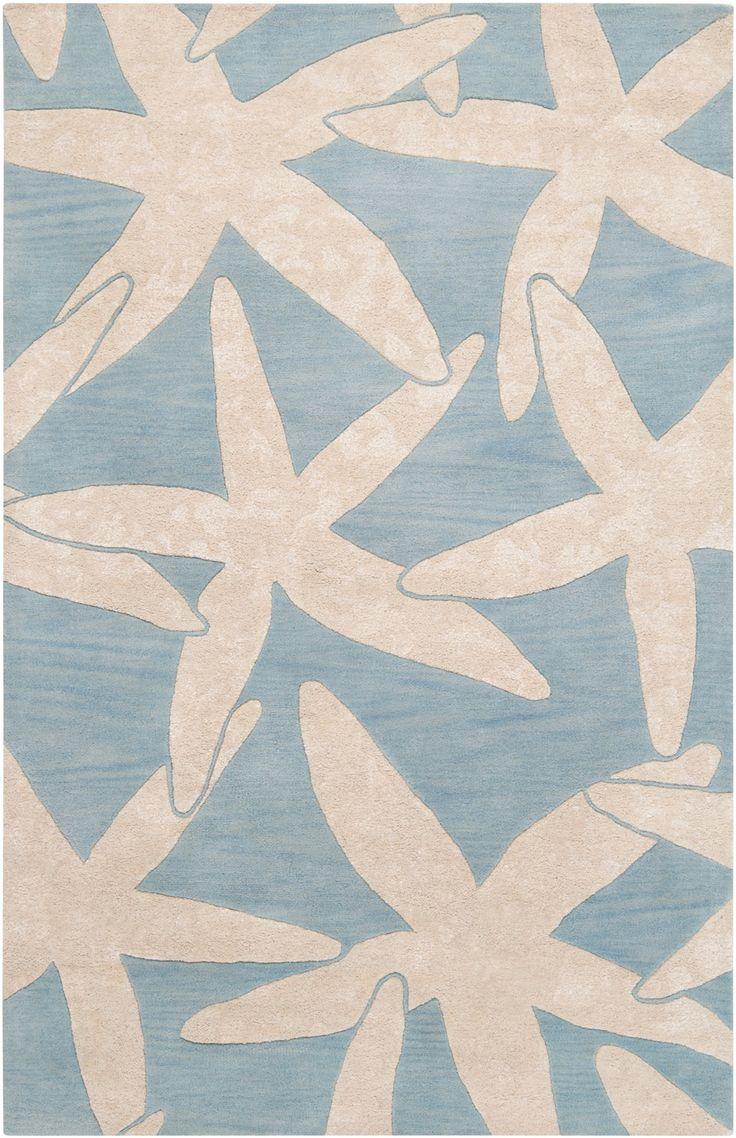 Awesome Escape Starfish Area Rug   Ivory On Dusk Blue: Beach Decor, Coastal Home  Decor