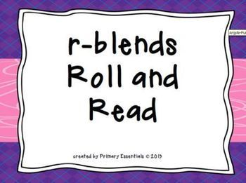 This freebie is a great way to practice reading words with r-blends.  70 words (10 from each br-, cr-, dr-, fr-, gr-, pr-, and tr-).  Perfect game for literacy stations/centers.