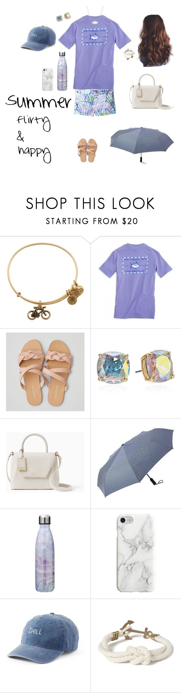 """""""Camp Starfall live-ins - Summer Cruz"""" by thekaileea ❤ liked on Polyvore featuring Alex and Ani, Lilly Pulitzer, American Eagle Outfitters, Kate Spade, Gap, Recover, SO, Kiel James Patrick and Kendra Scott"""