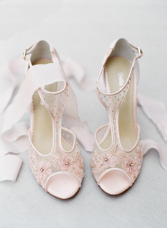 Blush embellished peep toe sandal stilettos: http://www.stylemepretty.com/2016/09/26/fall-tuscany-bridal-inspiration/ Photography; Sophie Epton - http://www.sophieepton.com/