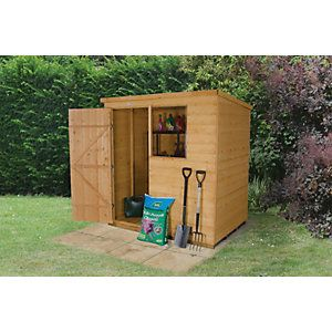 Wickes Overlap Pressure Treated Reverse Apex Shed 6 x 4 | Wickes.co.uk